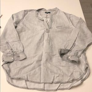 Never worn - Gap Denim Gray Blouse